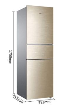 图片 海尔(Haier) 三门冰箱 静音 家用 风冷无霜 215升 三开门电冰箱 BCD-215WDGC